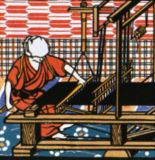 はた織り娘(桐生)A Woman at the Loom in Kiryu