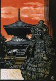 足利 ばん阿寺と尊氏木像A Wooden statue of Takauji, Ashikaga