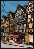 ドイツ ローデンブルグの街並A street scene in Rotenburg, Germany